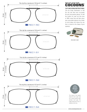Sunglasses Size Chart  size finder cos professional grade fitovers