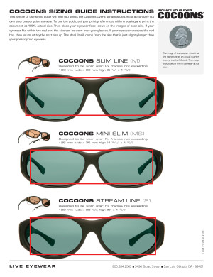 Live Vision Sunglasses  size finder cos professional grade fitovers