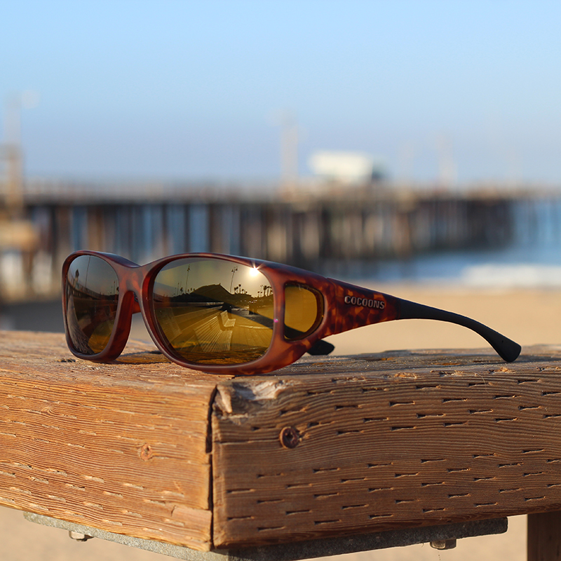 6cd35444c58 Slim Line with yellow. glare reducing fitover Cocoons sunglasses