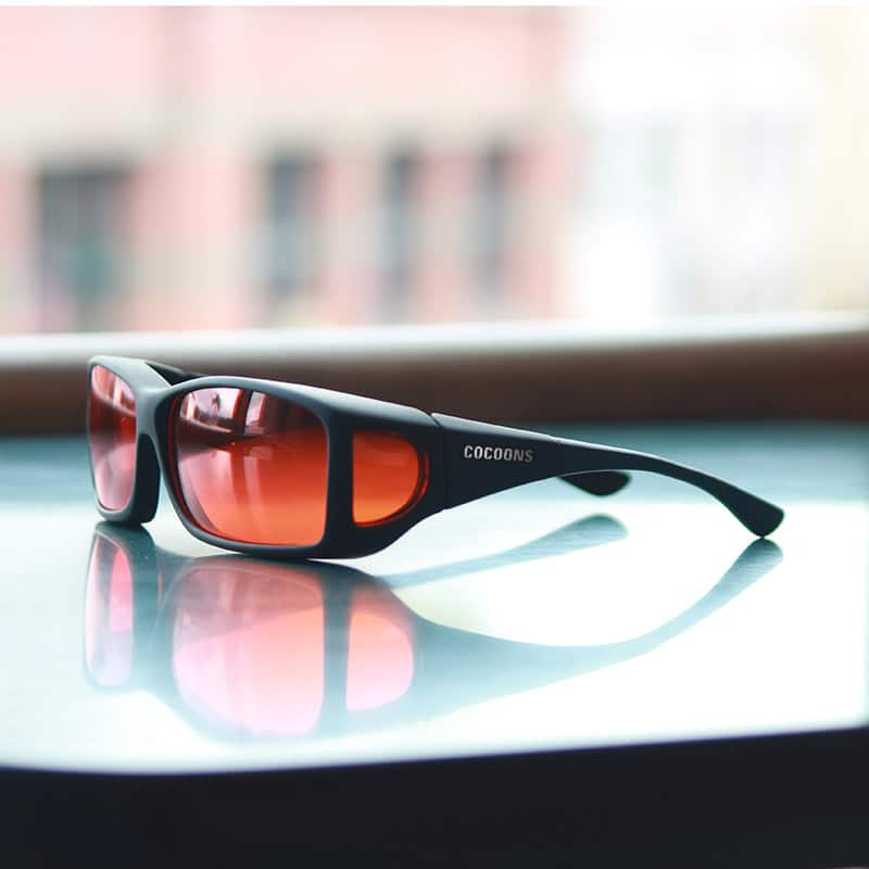628b14ac6967 Wide Line Cocoons fitover sunglasses with orange lens system