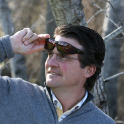 Mark wears Vistana fitovers to shield his eyes from solar radiation while wearing his prescription eyewear.