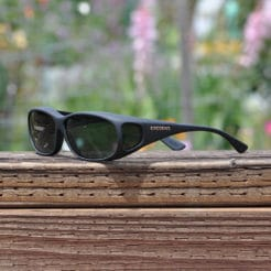Black Mini Slim fitover sunglasses with gray