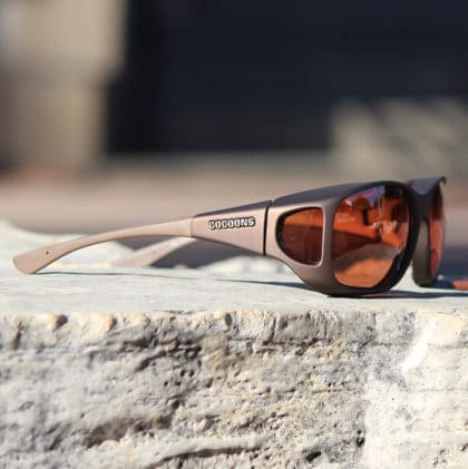 Sand Cocoons fitover sunglasses with copper