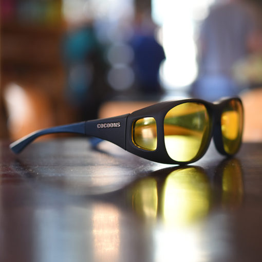 Low vision fitover sunglasses