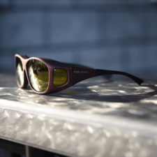 Polarized fitover sunglasses with yellow lenses