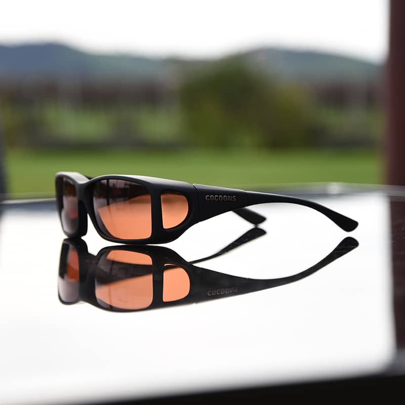 ce2b7520a2e Black Cocoons fitover sunglasses with copper