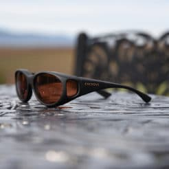 Small fitover sunglasses with copper