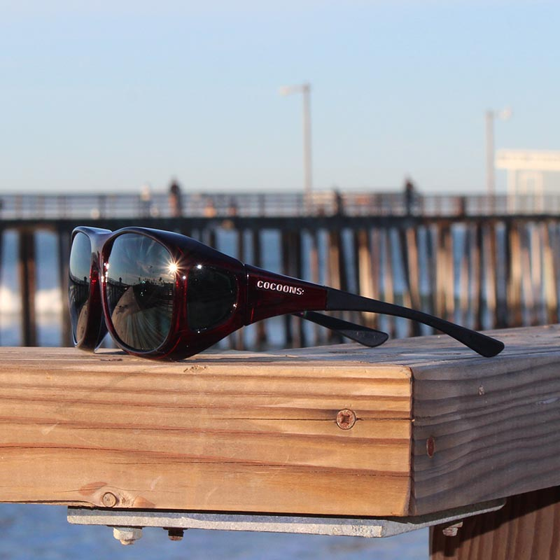 6cb0051fb55 Large Cocoons fitover sunglasses in Black Cherry