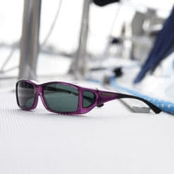 Amethyst Wide Line with a gray Polar� lens system from cocoons fitover sunglasses