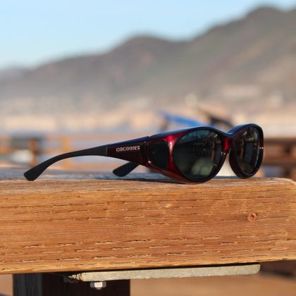Black Cherry Stream Line fitover sunglasses