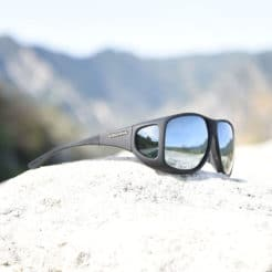 Mirrored fitover sunglasses with soft touch