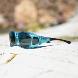 Blue fitover sunglasses