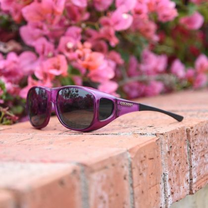 Cocoons Fitover Sunglasses Pilot in Amethyst