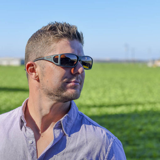 Cocoons Fitover Sunglasses in Ivy with Amber Lenses