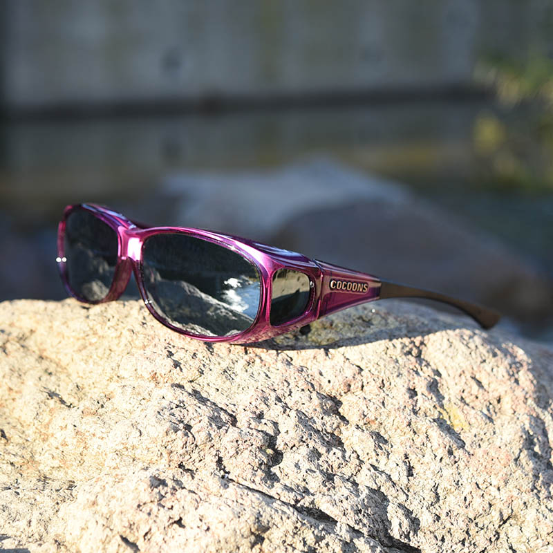 fb8905ff93 High performance fitover sunglasses · Purple fitover sunglasses are deep  and colorful and easy to wear over prescription eyeglasses.