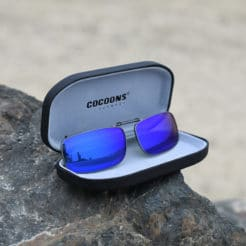 623827733323 Clip-Ons REC15-52 Gunmetal Polarized Blue Mirror