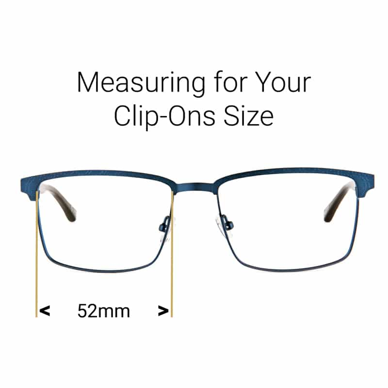 graphic about Printable Millimeter Ruler for Eyeglasses named Rectangle Clip-Ons