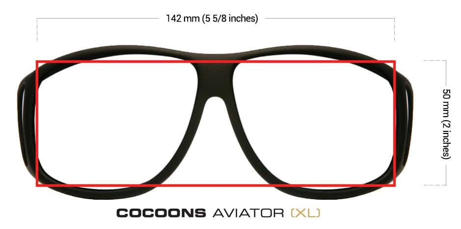 c4d81d2e79 Designed to fit over prescription glasses measuring less than 142mm (5 5 8  inches) in width by 50mm (2 inches) in height.
