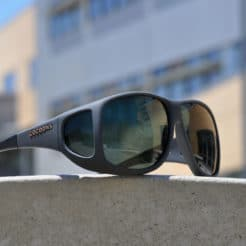 Cocoons fitovers extra large slate with polarized gray lenses.